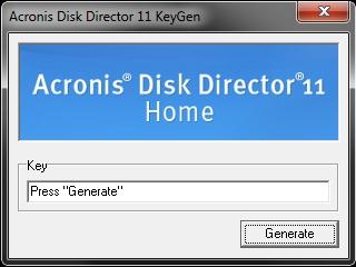 Keygen для Acronis Disk Director