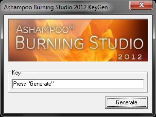 Нормальный, реально рабочий KeyGen для Ashampoo Burning Studio 2012.
