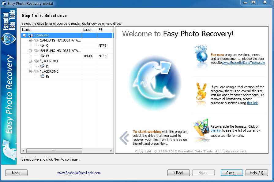 Easy Photo Recovery v6.4.923 + Crack / Кряк