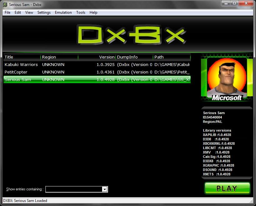 Эмулятор XBOX - DXBX